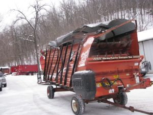 Home - Forage Box - Meyer 4218 Front and Rear Unload Combo Box, No Roof, TSS - Before - Waterman - Waterman's - Forage Box – Forage - Chopper - Box - Silage - Wagon - Repair - Sales - Lumber - Land - LLC - H&S - Meyer - Gehl - Miller Pro