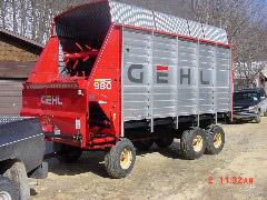 Rebuilt Process - Gehl 980 - Steel Sided - Finished - Waterman - Waterman's - Forage Box – Forage - Chopper - Box - Silage - Wagon - Repair - Sales - Lumber - Land - LLC - H&S - Meyer - Gehl - Miller Pro
