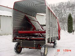 Rebuilt Process - Gehl 980 - Steel Sided - Wrecked Box to Repair - Waterman - Waterman's - Forage Box – Forage - Chopper - Box - Silage - Wagon - Repair - Sales - Lumber - Land - LLC - H&S - Meyer - Gehl - Miller Pro