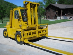 Caterpillar V120 Forklift - Chopper Box / Forage Box / Forage Wagon Repair