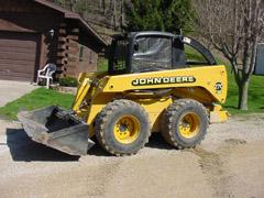 Skid Steer - John Deere 270 - Diesel - electric winch - Bucket - Winch - Recon - Warn - Pallet Tine Buckets - PTO Bucket - Waterman - Waterman's - Forage Box - Forage - Chopper - Box - Silage - Wagon - Repair - Sales - Lumber - Land - LLC - H&S - Meyer - Gehl - Miller Pro