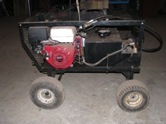 Portable Power Hydraulic Machine with Honda motor - Power Washer - Special Tools - Waterman - Waterman's - Forage Box - Forage - Chopper - Box - Silage - Wagon - Repair - Sales - Lumber - Land - LLC - H&S - Meyer - Gehl - Miller Pro