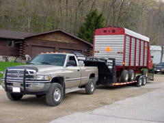 Chopper Box / Forage Box / Forage Wagon Hauling Trailer